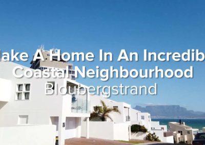 Make A Home In An Incredible Coastal Neighbourhood | Bloubergstrand