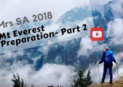 Mrs SA 2018 | Preparing For Mt Everest Base Camp | Part 2